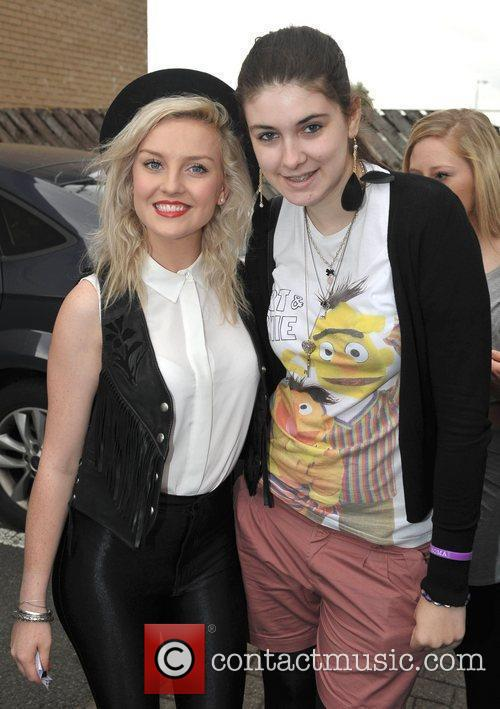 Perrie Edwards of Little Mix poses with a...