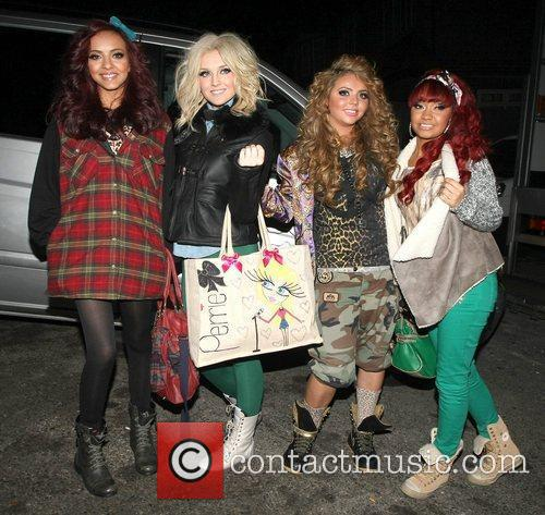 Little Mix arrive back at their hotel with...