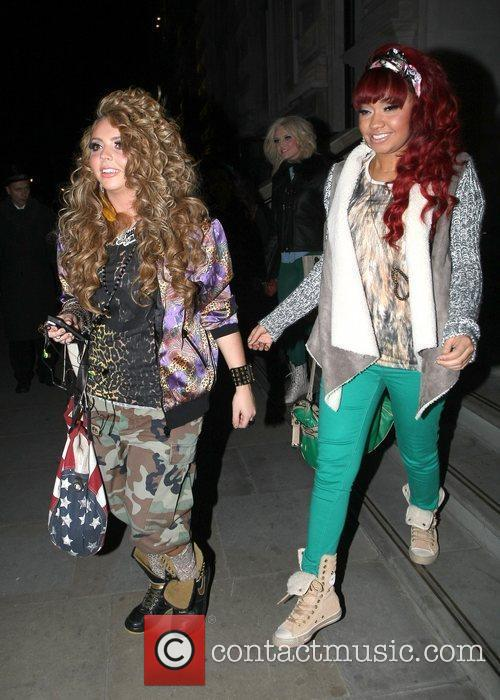 Jesy Nelson and Leigh-Anne Pinnock Little Mix arrive...