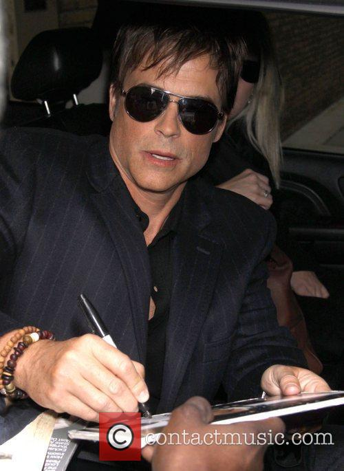 Rob Lowe Celebrities outside the 'Live! With Kelly'...