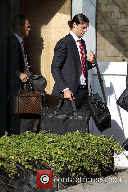 Andy Carroll The Liverpool football squad depart the...