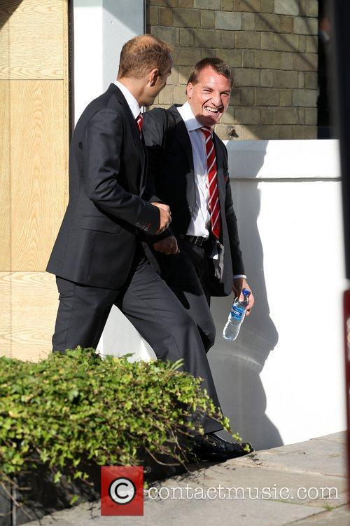 Brendan Rogers The Liverpool football squad depart the...