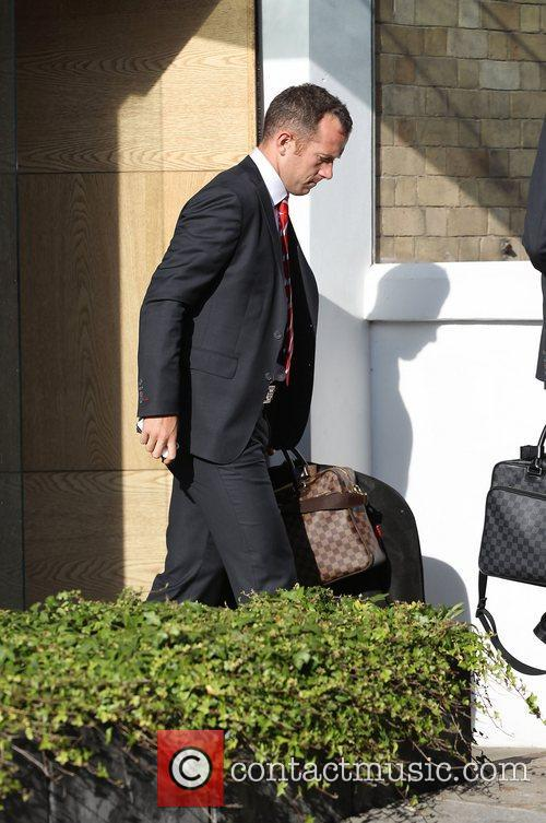 Charlie Adam The Liverpool football squad depart the...