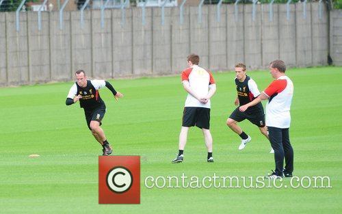 Charlie Adam Liverpool football team return to training...