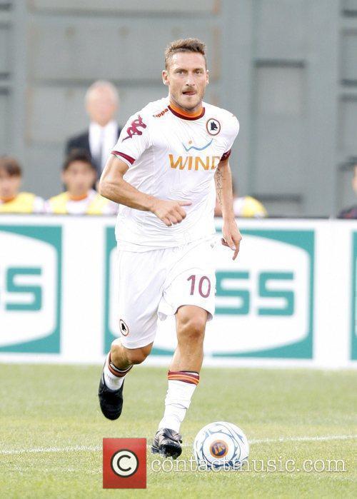 AS Roma's forward Francesco Totti Liverpool FC v...