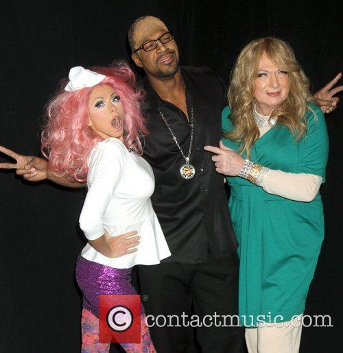 Kelly Ripa, Nicki Minaj, Michael Strahan, Randy Jackson, Art Moore and Mariah Carey 2