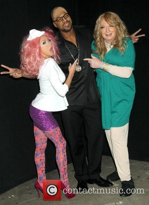 Kelly Ripa, Nicki Minaj, Michael Strahan, Randy Jackson, Art Moore and Mariah Carey 10