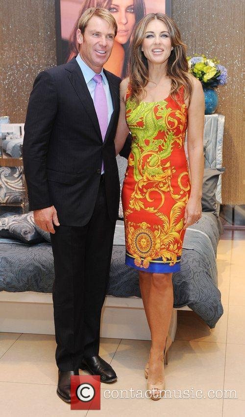 Elizabeth Hurley launches her new bed linen collection...