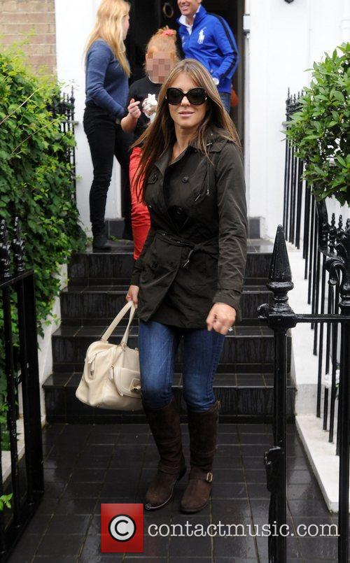 Seen leaving a private residence in London