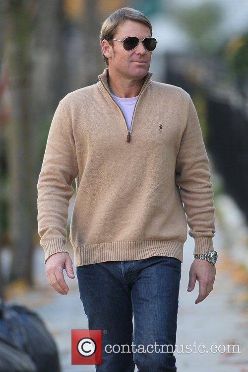 Shane Warne out and about in London...