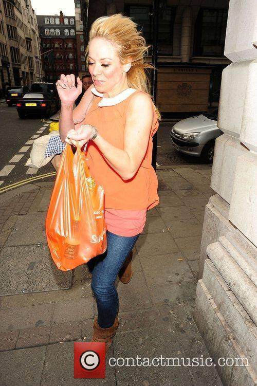 Liz McClarnon out and about in Mayfair