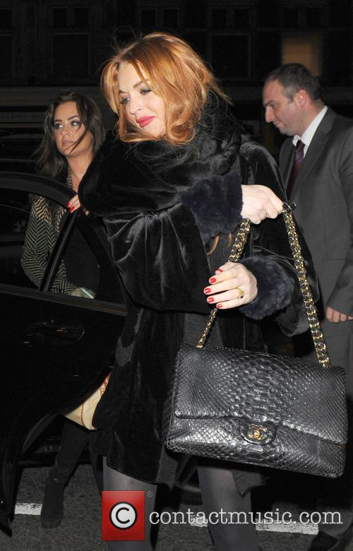 Lindsay Lohan leaves China Tang following a night...