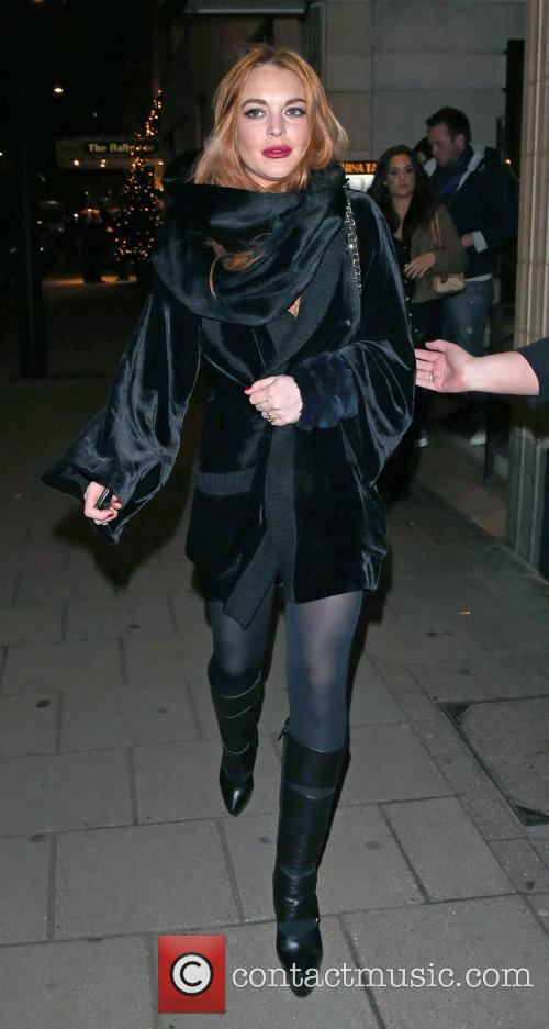 Lindsay Lohan leaves China Tang following a night...