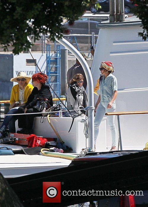 lindsay lohan filming scenes from her new 5859463