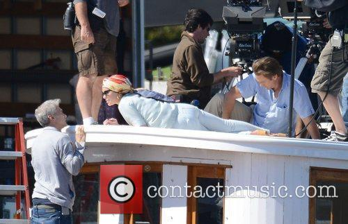 lindsay lohan filming scenes from her new 3929124