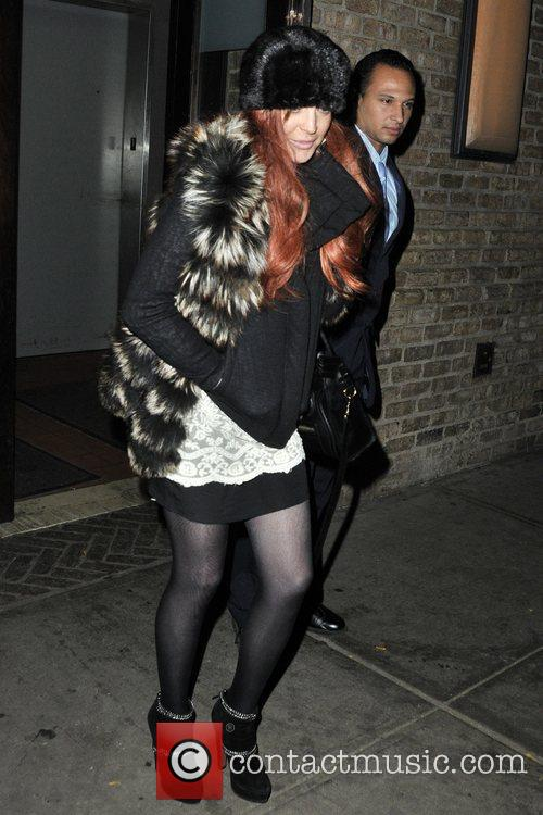 lindsay lohan seen exiting her hotel in 5944383
