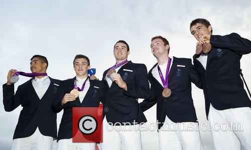 British Male Gymnasts medal winners at BT London...