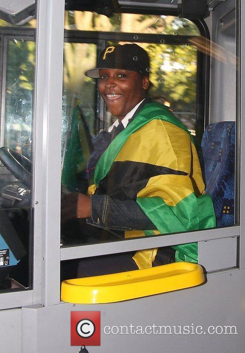 Brixton Jamaican community celebrate Usain Bolt of Jamaica...