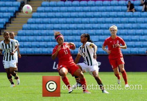 Desiree Scott and Amanda Dlamini London 2012 Olympic...