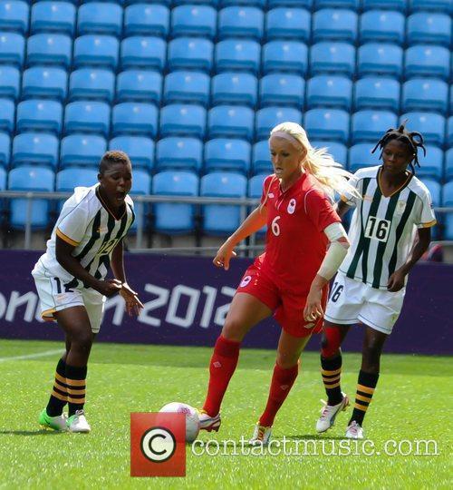 Kaylyn Kyle and Amanda Dlamini London 2012 Olympic...