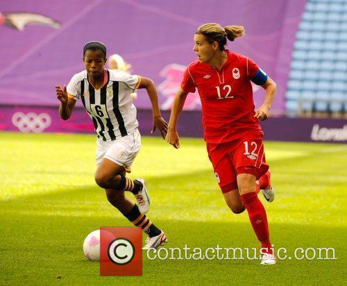 Zamandosi Cele and Christine Sinclair London 2012 Olympic...