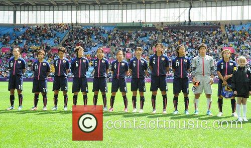 Japan team Olympic Football Women's Preliminary game between...