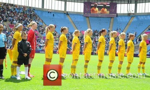 Sweden team Olympic Football Women's Preliminary game between...
