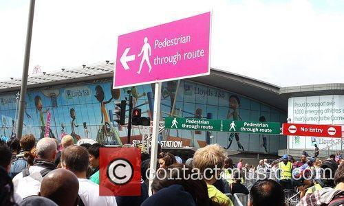 Signage around stratford Tube station during the first...