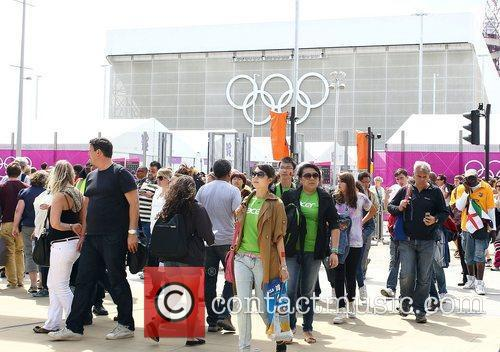 Spectators leave the park after the morning session...