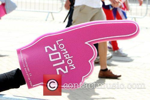 Stewards help people find their way during the...