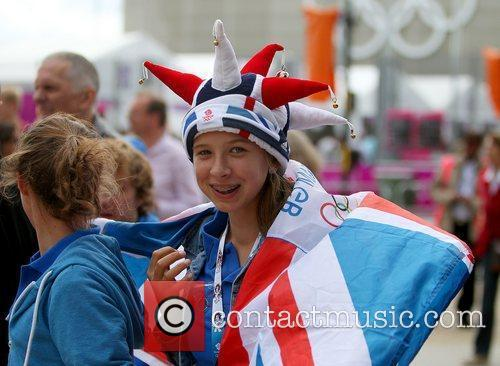 Team GB fan during the first day of...