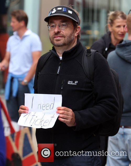 A man hoping to get tickets for the...