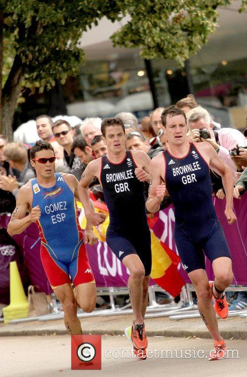 Alistair Brownlee of Great Britian and Jonathan Brownlee...