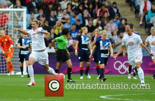 Christine Sinclair of (Canada) scores second goal...