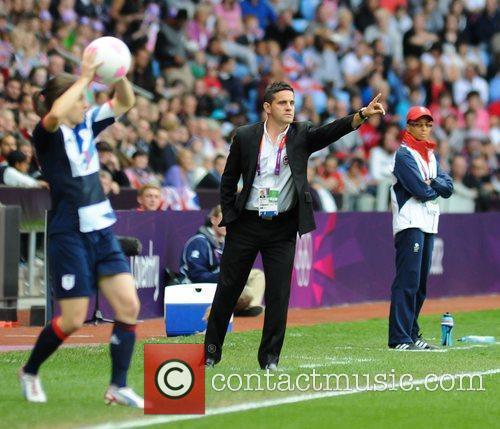 John Herdman (Coach Canada) London 2012 Olympic Games...