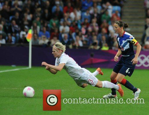 Sophie Schmidt (Canada) and Casey Stoney (Great Britain)...