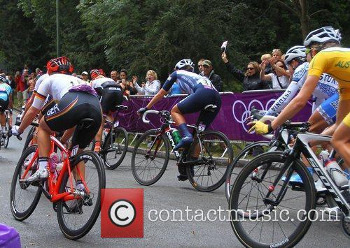 Atmosphere Women's Olympic Road Race cycle event during...