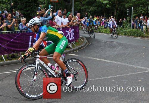 Janildas Fernandes Silva of Brazil leading the race...