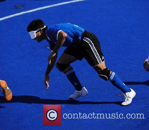 Argentine player London 2012 Paralympic Games - 5-a-side...
