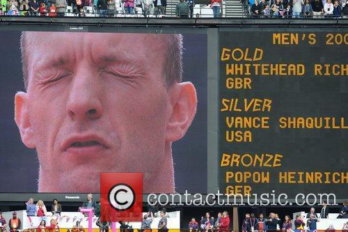 Display board of Richard Whitehead of Great Britain...