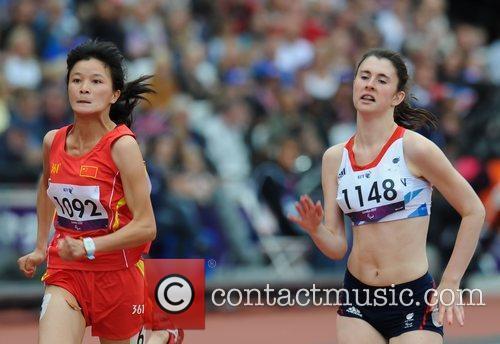Dezhi Xiong (CHN) and Olivia Breen (GBR)...