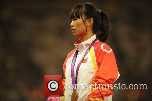 Women's 100m T46 . Medal Ceremony.  (Bronze)...