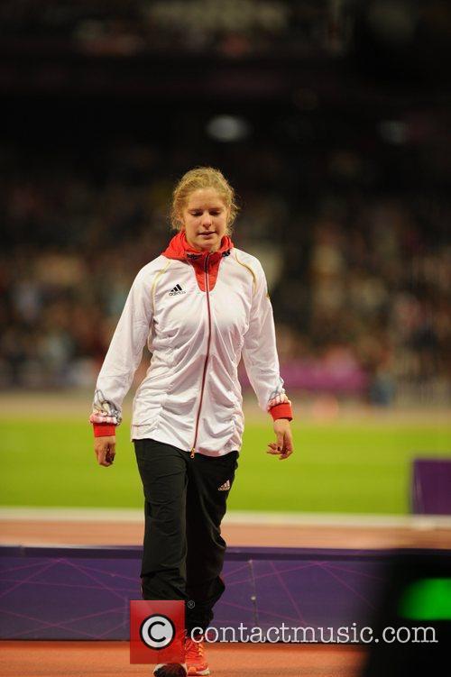 Women's 200m T37. Medal Ceremony.  (Gold) Johanna...