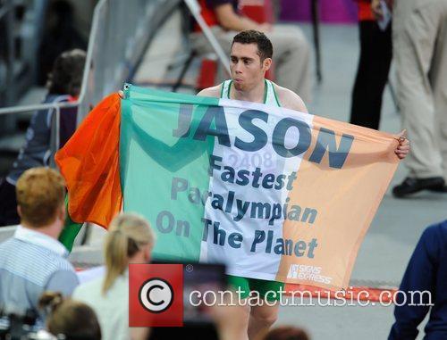 Jason Smyth wins Gold during the Men's 100m...