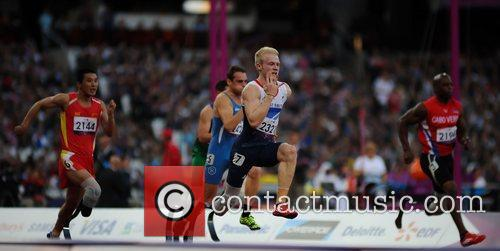 Jonnie Peacock (GBR) and David Behre (GER) in...