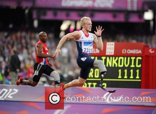 Jonnie Peacock (GBR) in action  London 2012...