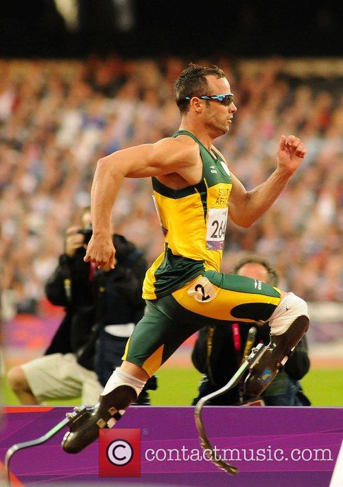 Oscar Pistirious (RSA) in action London 2012 Paralympic...