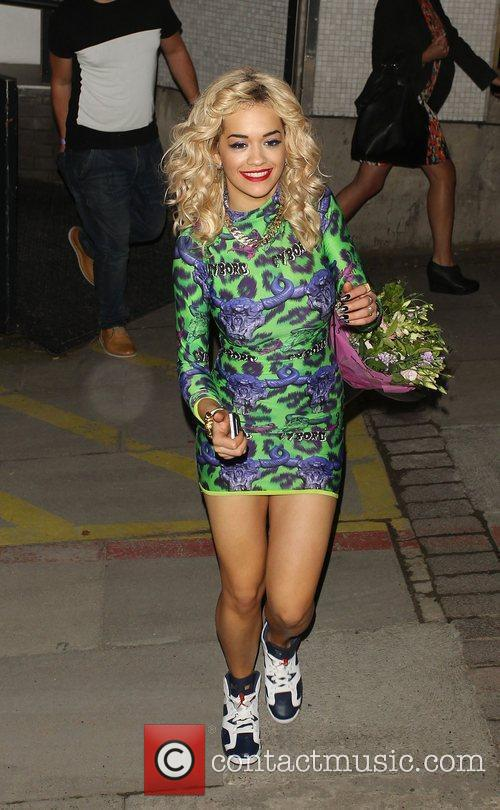 Rita Ora leaving The London Studios