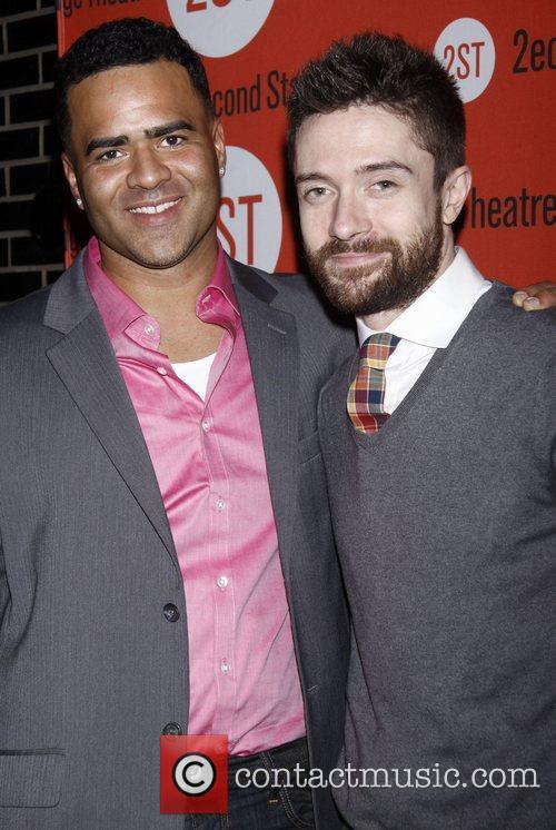 Christopher Jackson and Topher Grace Opening night after...
