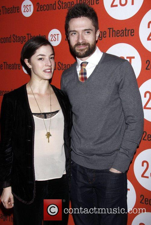 Olivia Thirlby and Topher Grace  Opening night...